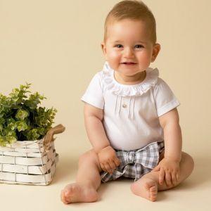 Camisa y pololo bebé cuadro vichy