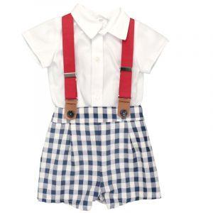 conjunto bermuda y camisa niño 6 a 36 meses