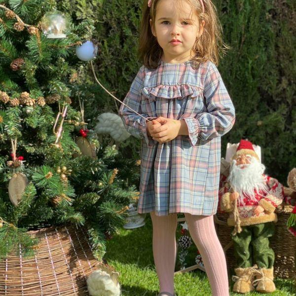 vestido niña cuadros invierno 2020