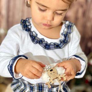 Pijama bebe niña algodón organico