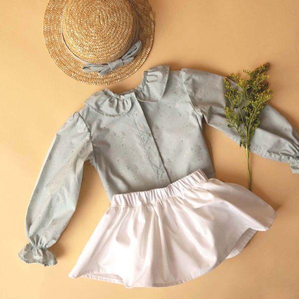 falda básica blanca niña
